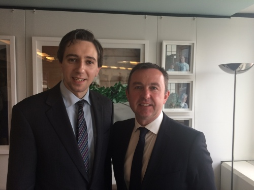 Minister Simon Harris and Brian Hayes MEP in Brussels